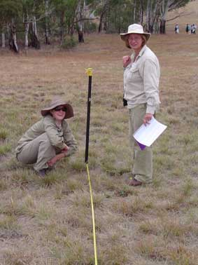 plant survey at Yarrmundi Reach